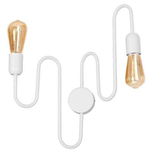 Kinkiet lampa ścienna adx 931d metalowa oprawa pręty żarówki bulbs loft białe marki Mlamp