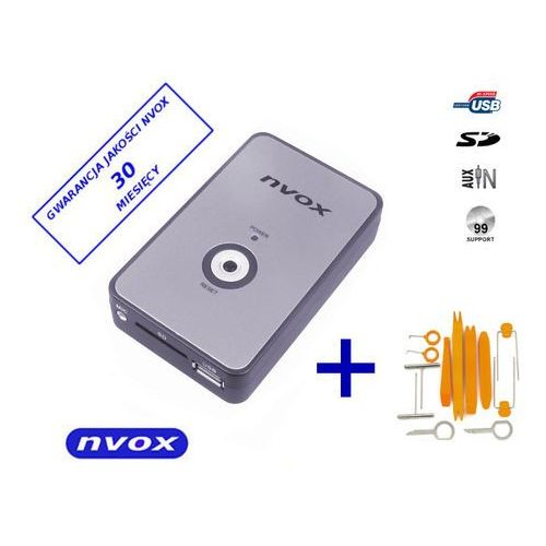 NVOX NV1080A PEUG.CITR RD4 Zmieniarka cyfrowa emulator MP3 USB SD PEUGEOT CITROEN RD4 (5901867720115)