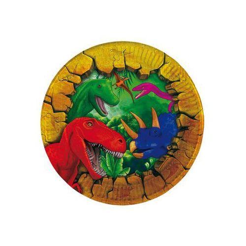 Talerzyki urodzinowe Dinozaury - 18 cm - 6 szt. (8714572618502)