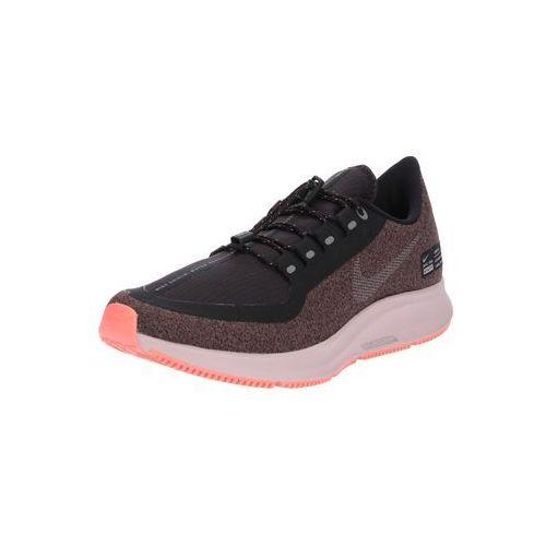 Nike buty do biegania 'nike air zoom pegasus 35 shield' szary / bladofioletowy