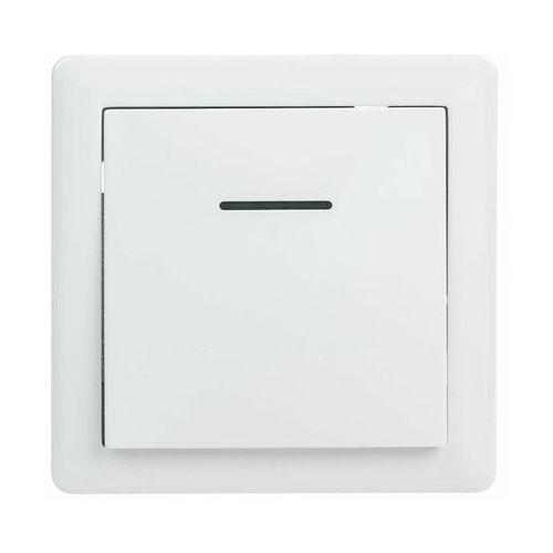 Lexman Włącznik pojedynczy schodowy z podświetleniem slim biały