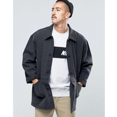 denim worker jacket in black - black marki Asos