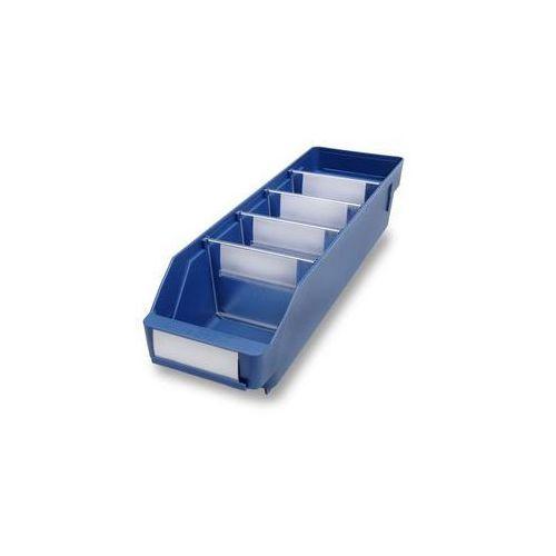 Skrzynka regałowa z wysokiej jakości, odpornego polipropylenu,niebieska marki Stemo