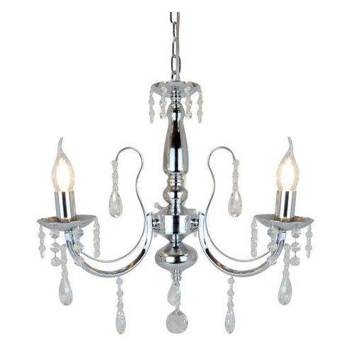 Lampa wisząca Zuma Line Alibi P17194-3 zwis 3x 40W E14 srebrny (2011006027487)