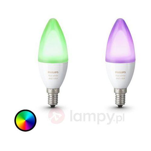Żarówka LED PHILIPS Hue White and color B39 E14 2Pack, 929001301302