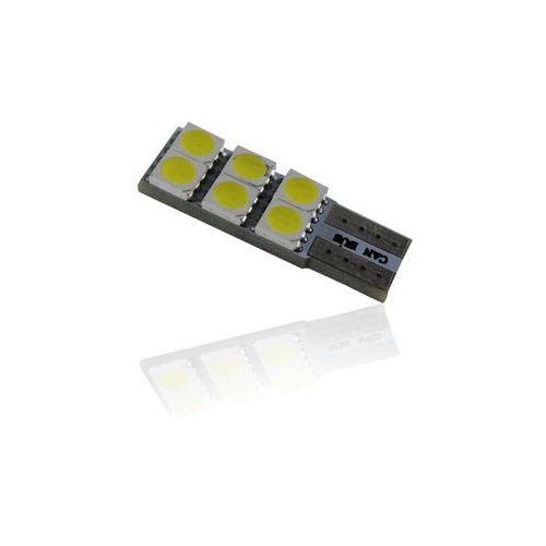 Żarówka samochodowa LED T10, 6 x led, CANBUS + Bezpłatna natychmiastowa gwarancja wymiany!, 15008