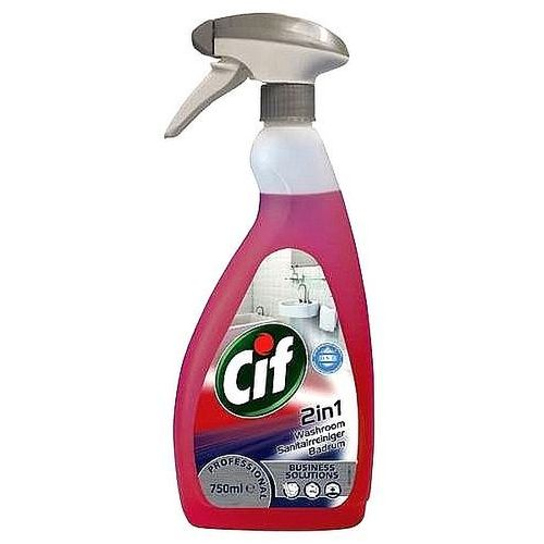 Preparat do łazienek washroom 2in1 750ml marki Cif
