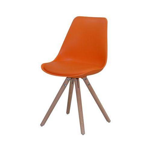 Krzesło WOODY pomarańczowe, drewno dębu olejowane, 22130-4