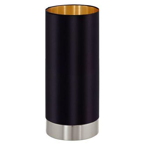 Stojąca LAMPA stołowa MASERLO 95117 Eglo abażurowa LAMPKA biurkowa tuba czarna (9002759951177)