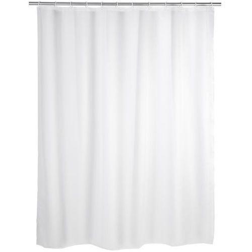 Zasłona prysznicowa, PEVA, kolor biały, 180x200 cm, WENKO, B000SLU57Y