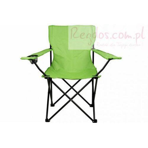 Składane krzesło campingowe - Krzesło turystyczne wędkarskie zielone z kategorii krzesełka wędkarskie