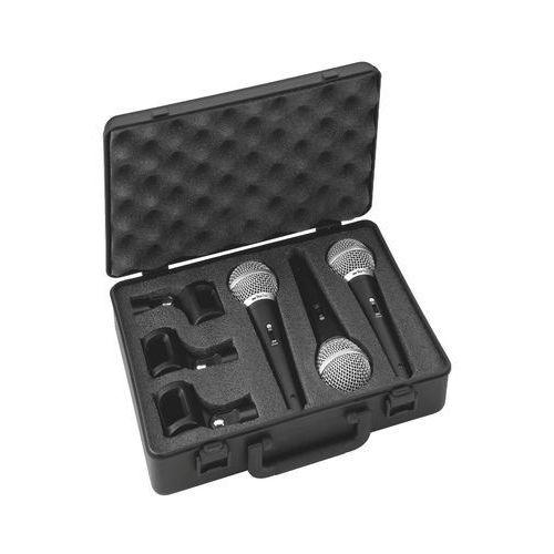 Zestaw mikrofonów dynamicznych do wokalu dm-3set marki Monacor