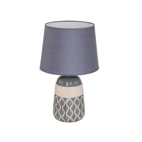 Lampka bellariva 2 97776 stołowa nocna 1x60w e27 szara/beżowa marki Eglo