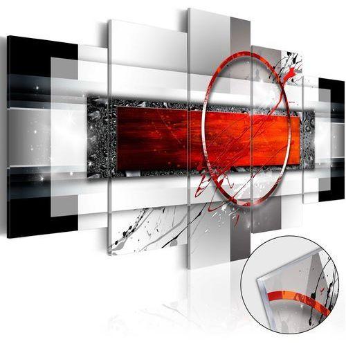 Artgeist Obraz na szkle akrylowym - karminowy pocisk [glass]