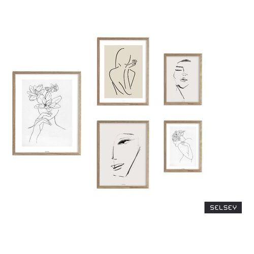 SELSEY Galeria pięciu obrazów Droose z wyborem ramy