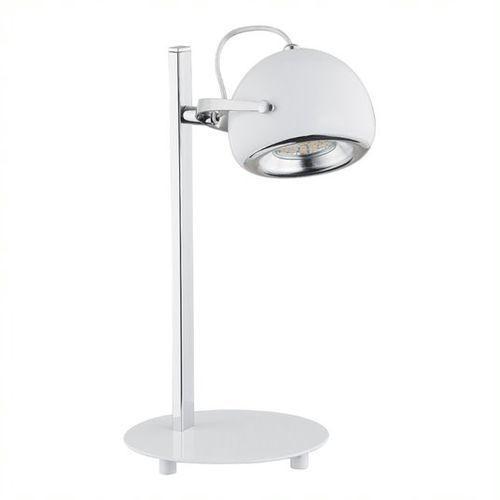 Lemir Flavio lampka stołowa 1 pł. / chrom + biały, dodaj produkt do koszyka i uzyskaj rabat -10% taniej! (5902082864097)