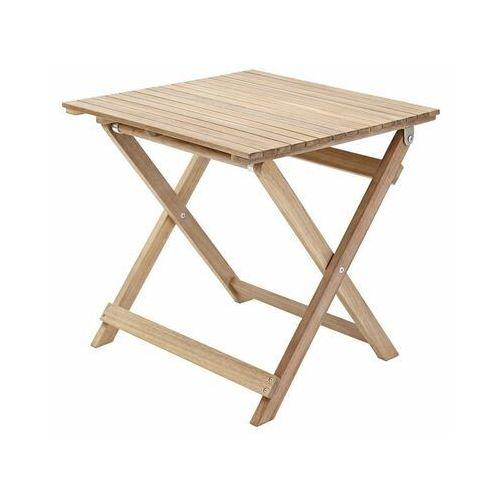 Stolik ogrodowy SOLIS 50 x 50 cm drewniany NATERIAL (3276000689225)