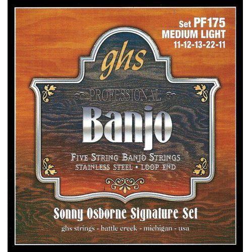 GHS Sonny Osbourne Signature struny do Banjo, 5-str. Loop End, Stainless Steel,.011-.022