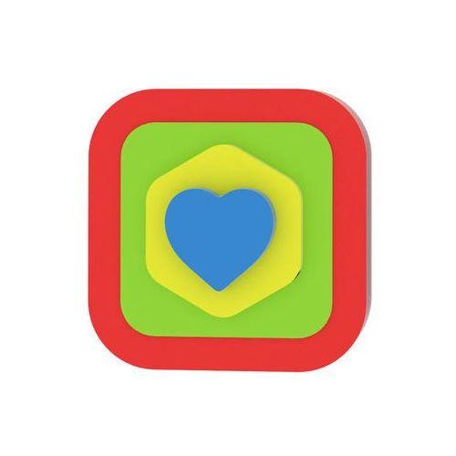Neuveden Moje první puzzle - tvary čtverec/srdce červená