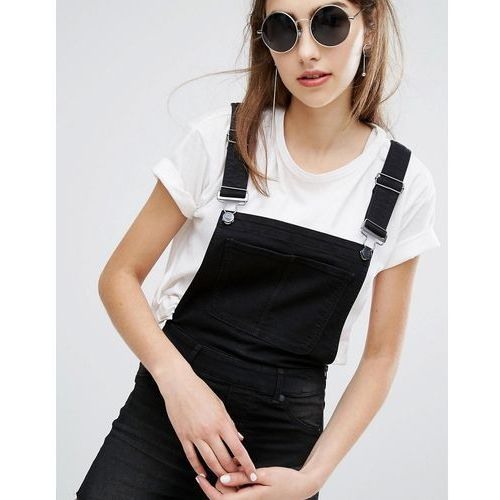 Cheap Monday Superskinny Short Dungarees with Cut-Off Hem - Black