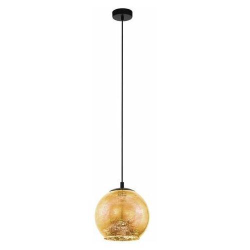 Eglo Albaraccin 98523 lampa wisząca zwis oprawa 1x40W E27 czarna/ złota (9002759985233)