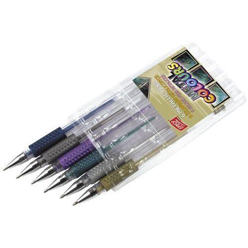 Easy, Żelopisy metaliczne, 6 kolorów (5905339484611)