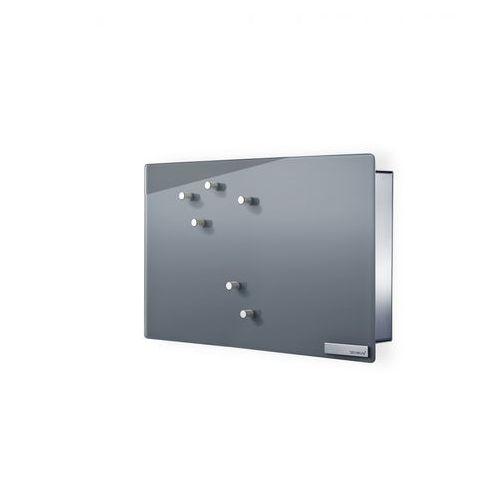 Magnetyczna skrzynka na klucze Velio, szare szkło by Blomus