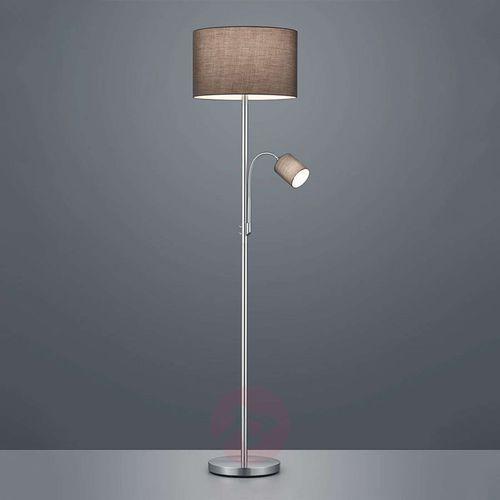 Trio leuchten Lampa podłogowa hotel z lampką do czytania, szara