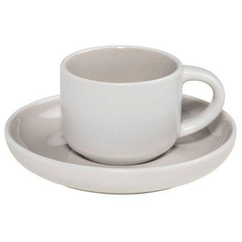 - tint - filiżanka do espresso, biało-szara - szary marki Maxwell & williams