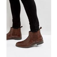 Red Tape Chelsea Boots In Brown Leather - Brown, kolor brązowy