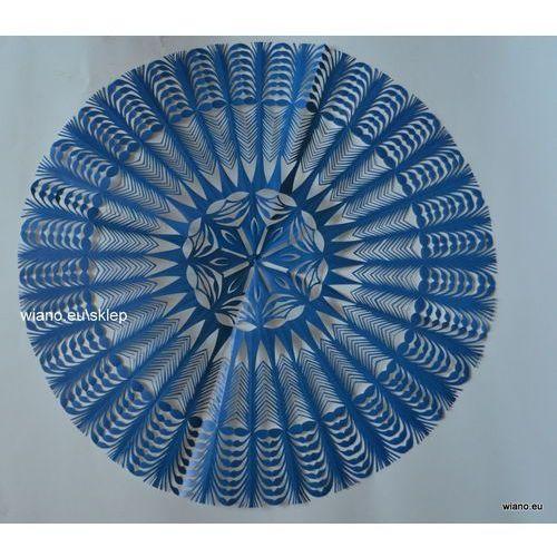 Twórczyni ludowa Wycinanka ludowa, gwiazda kurpiowska, kolor niebieski, śred. 34 cm (czk-19)