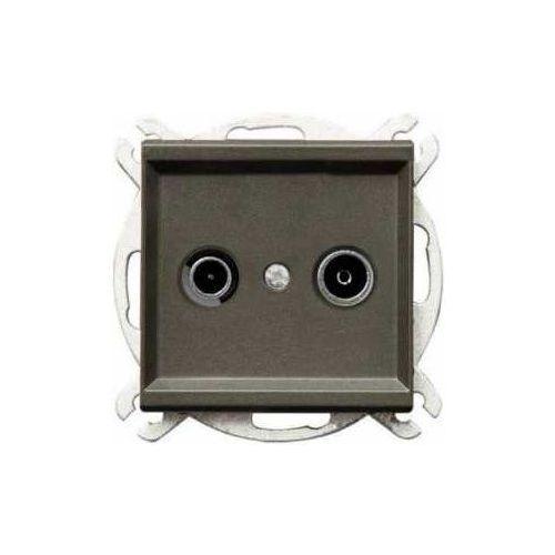 Gniazdo antenowe RTV zakończeniowe Czekoladowy metalik - GPA-10RPZ/m/40 Sonata, GPA-10RPZ/M/40