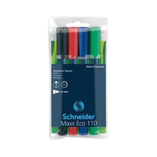 Schneider Zestaw markerów do tablic maxx eco 110, 1-3 mm, 4 szt., miks kolorów (4004675000828)