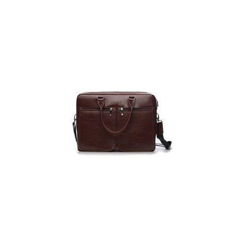 Solier Męska skórzana torba na ramię, laptopa  sl01 dundee
