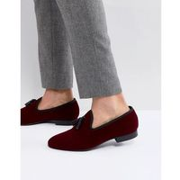 Kg kurt geiger Kg by kurt geiger velvet tassel loafers wine - red