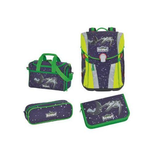 Scout sunny plecak z akcesoriami szkolnymi, 4-częściowy - space