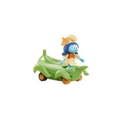 Jakks pacific Smerfy figurka + pojazd - lolijka na liściu (0039897308777)