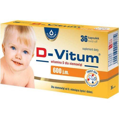 D-Vitum witamina D dla niemowląt 600 j.m. x 36 kapsułek twist-off