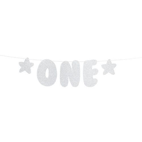 Baner na roczek 1 birthday - one - 50 cm - 1 szt. marki Party deco