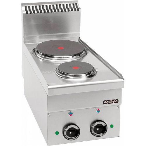 Mbm Kuchnia elektryczna 2-płytowa stołowa | 1x 1,5 kw + 1x 2,6 kw | 400x600x(h)270/460mm | 4,1 kw
