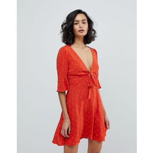 all yours spot mini dress - red, Free people