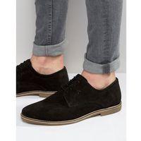derby shoes in black suede - black marki Red tape