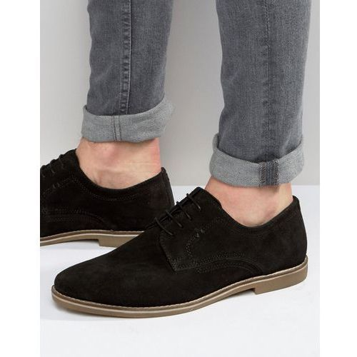 derby shoes in black suede - black marki Red tape