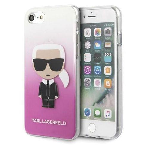 Karl Lagerfeld KLHCI8TRDFKPI iPhone 7/8 SE 2020 różowy/pink Gradient Ikonik Karl