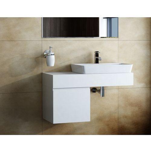 Antado  combi szafka prawa z blatem lewym i umywalką libra biały/jasne drewno alt-141/45-r-ws/dn+alt-b/3-1000x450x150-ws+ucs-tc-66