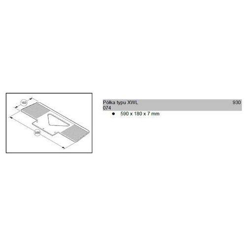 Półka typu xwl 590x180x7mm do wózków modulkar sano liftkar marki Wozki aluminiowe modulkar