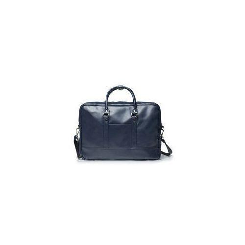 Solier Granatowa elegancka torba na laptopa  s04
