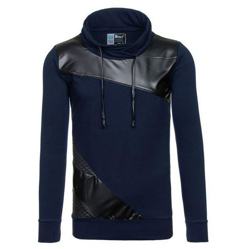 Granatowa bluza męska bez kaptura Bolf 3210 - GRANATOWY, bluza męska BOLF