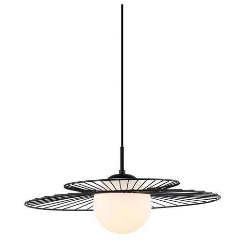 Druciana LAMPA wisząca SARAH MDM-4000/1 BK Italux okrągła OPRAWA szklana kula ball ZWIS sandy sally loft czarny biały (5900644439936)