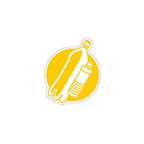 Splast Piktogram na kosz do segregacji żółty- plastik